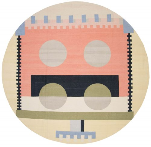 10×10 Nicholls Multi Color Oriental Round Rug 048270