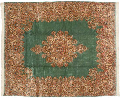 10×12 Persian Kerman Green Oriental Rug 012199
