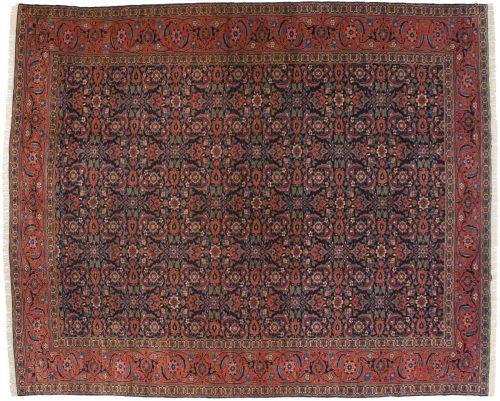 10×12 Persian Tabriz Blue Oriental Rug 011145