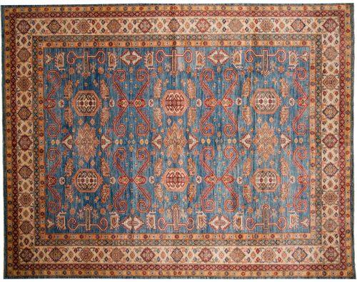 10×13 Kazak Blue Oriental Large Rug 048804