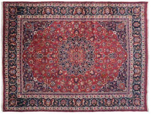 10×13 Meshed Burgundy Oriental Rug 013765