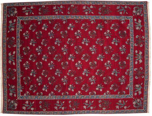 10×13 Persian Kerman Red Oriental Rug 011138