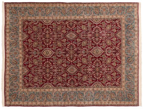 10×13 Persian Kerman Red Oriental Rug 025459