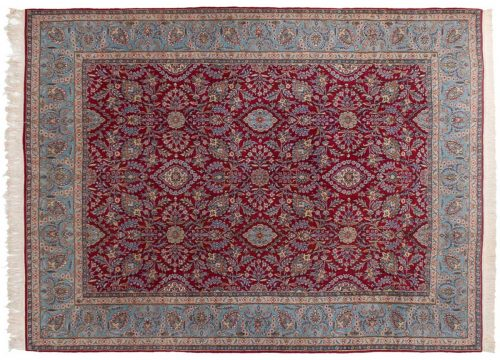 10×13 Persian Kerman Red Oriental Rug 025464