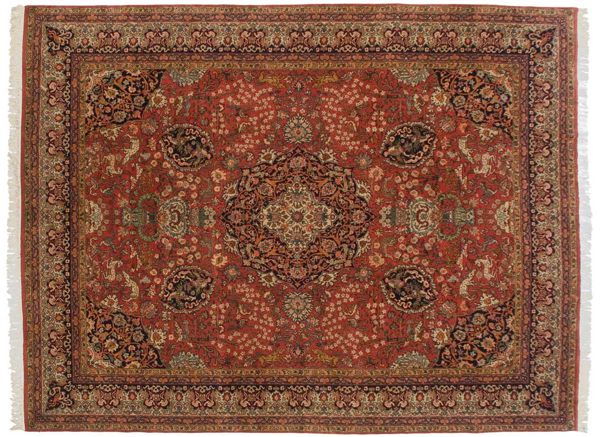 10x13 Persian Red Oriental Rug 012415