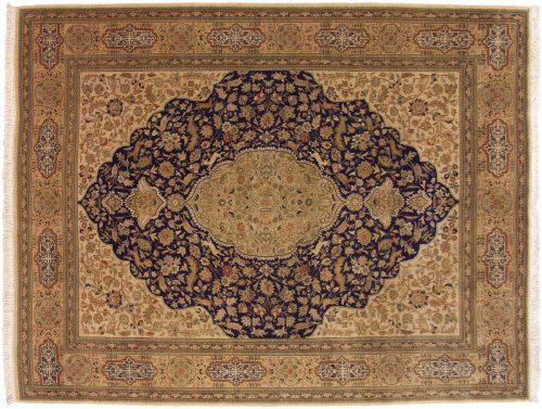 10×13 Persian Tabriz Blue Oriental Rug 028492