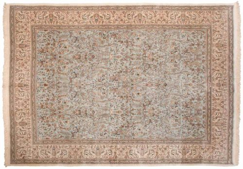 10×13 Persian Tabriz Blue Oriental Rug 035151