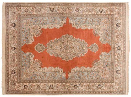 10×13 Persian Tabriz Rust Oriental Rug 035251
