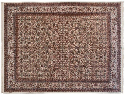 10×13 Tabriz Ivory Oriental Rug 036486