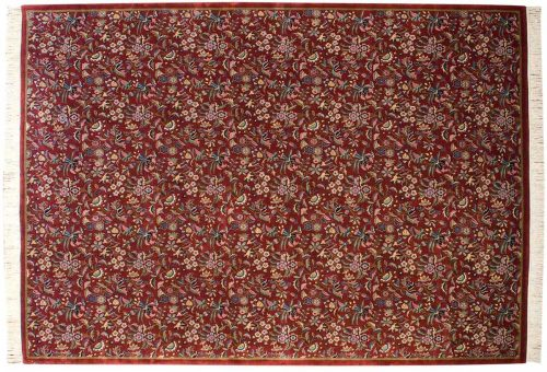 10×14 Aubusson Burgundy Oriental Rug 031488