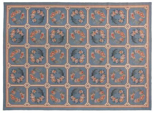 10×14 Panel Blue Oriental Large Rug 019487