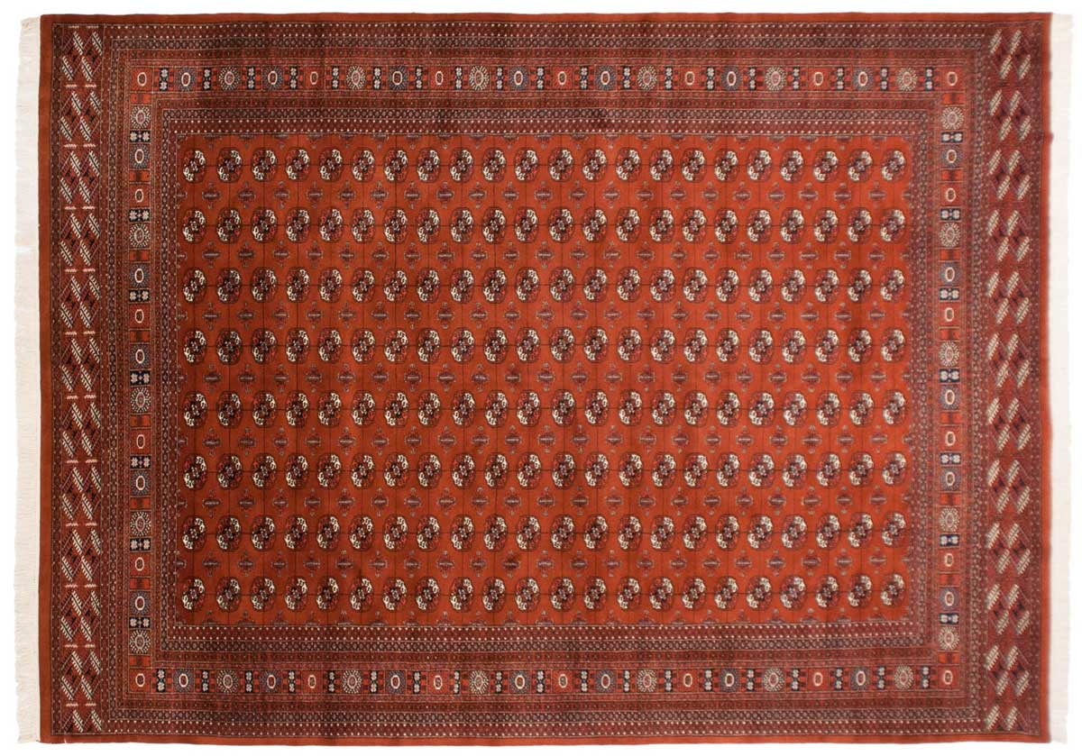 10x14 Bokhara Rust Oriental Large Rug 023370