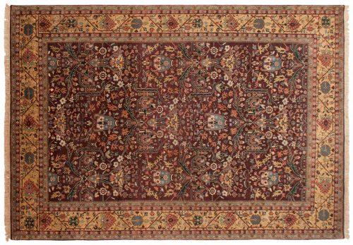 10×14 Hereke Burgundy Oriental Rug 024799