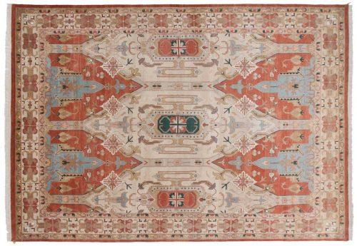 10×14 Geometric Rust Oriental Large Rug 012704