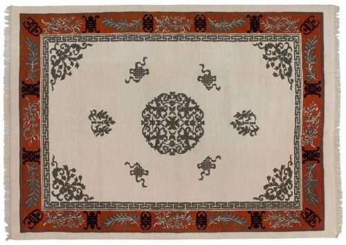 10×14 Chinese Ivory Oriental Rug 043316