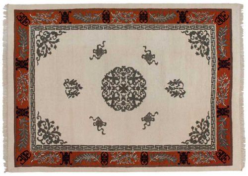 10×14 Chinese Ivory Oriental Rug 043316