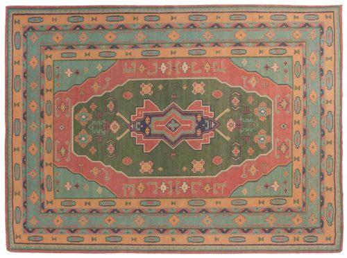 10×14 Dhurrie Green Oriental Large Rug 023953
