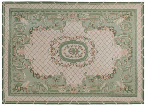 10×14 Dhurrie Ivory Oriental Rug 043529