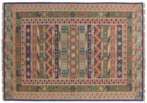 10×14 Dhurrie Multi Color Oriental Large Rug 024069