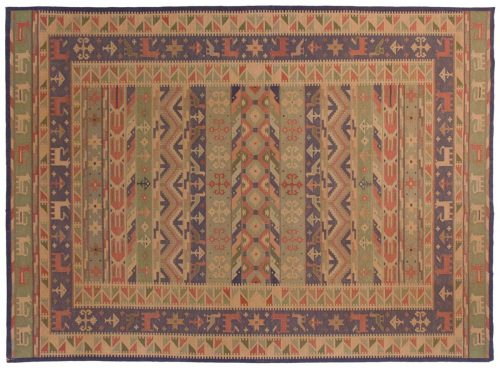 10×14 Dhurrie Multi Color Oriental Large Rug 024127