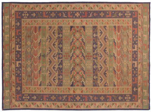 10×14 Dhurrie Multi Color Oriental Large Rug 024127