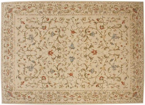 10×14 European Ivory Oriental Rug 020971