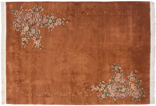 10×14 Floral Rust Oriental Large Rug 028555