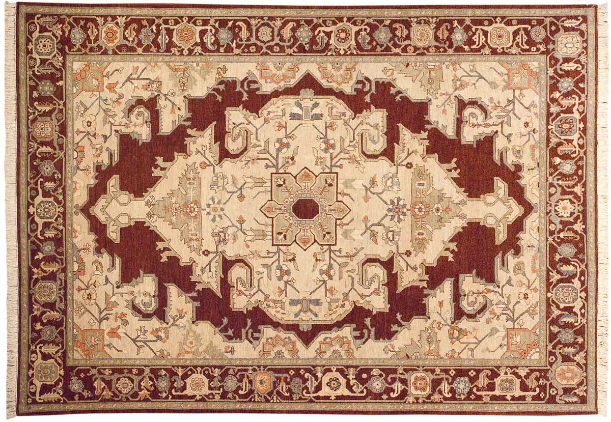 10x14 Heriz Brown Oriental Large Rug 020745