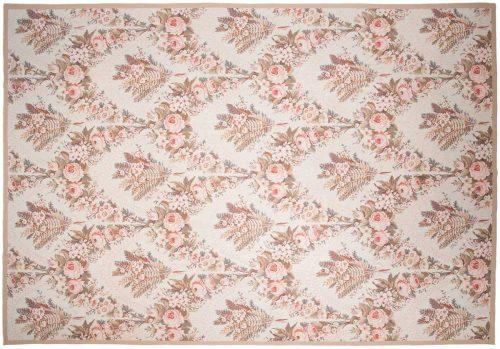 10×14 Floral Ivory Oriental Large Rug 014326