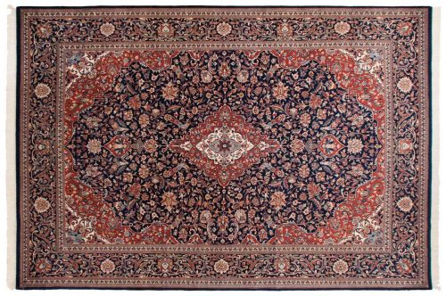 10×14 Kashan Blue Oriental Large Rug 023768