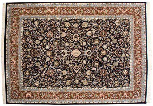 10×14 Kashan Blue Oriental Large Rug 033727