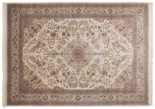 10×14 Kashan Ivory Oriental Rug 030582