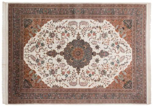 10×14 Kashan Ivory Oriental Rug 031162