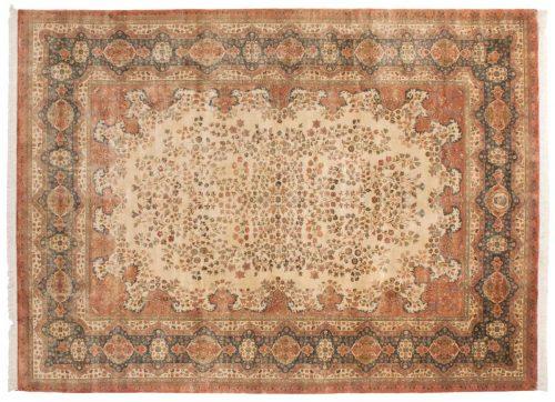 10×14 Kerman Ivory Oriental Large Rug 017049