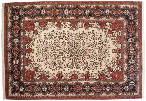 10×14 Kerman Ivory Oriental Large Rug 017064