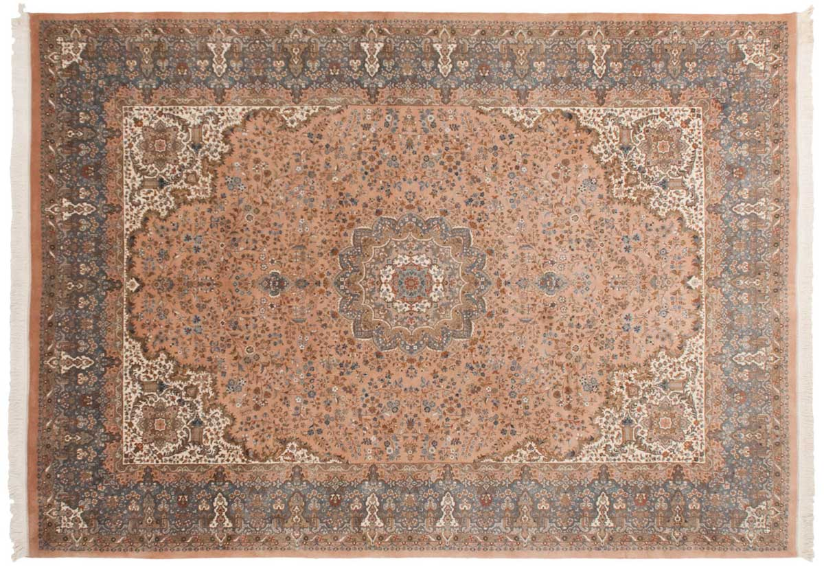 10x14 Kerman Rose Oriental Large Rug 026245