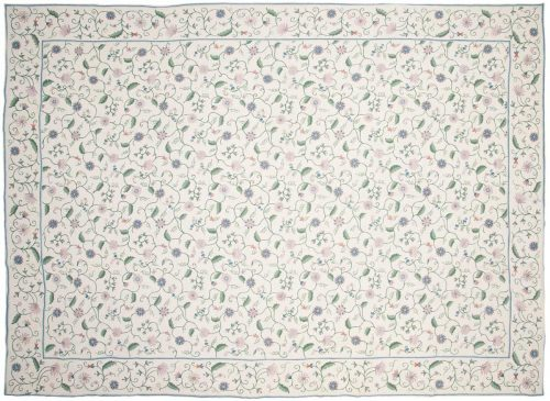 10×14 Kerman Shawl Ivory Oriental Rug 021188