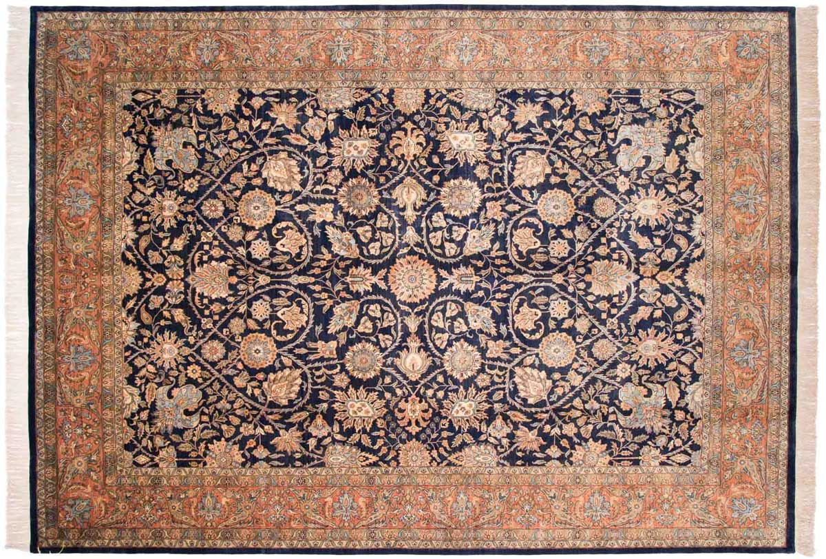 10x14 Meshed Blue Oriental Rug 032338