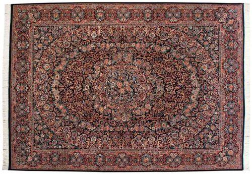 10×14 Isfahan Black Oriental Large Rug 025745