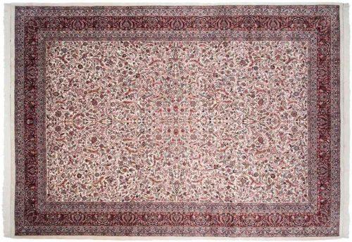 10×14 Persian Ivory Oriental Large Rug 036432