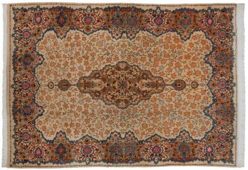 10×14 Persian Kashan Ivory Oriental Rug 013650