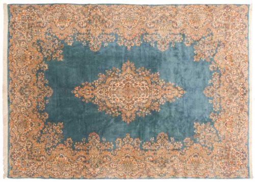 10×14 Persian Kerman Blue Oriental Rug 047677