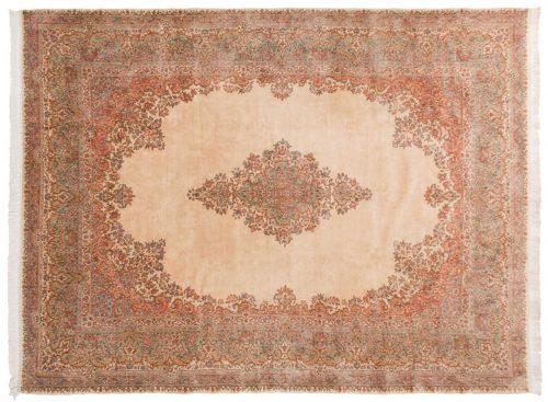 10×14 Persian Kerman Ivory Oriental Rug 035635