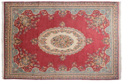 10×14 Persian Kerman Red Oriental Rug 011334