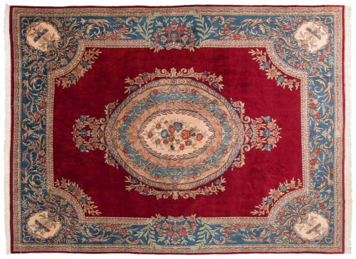 10×14 Persian Kerman Red Oriental Rug 025466