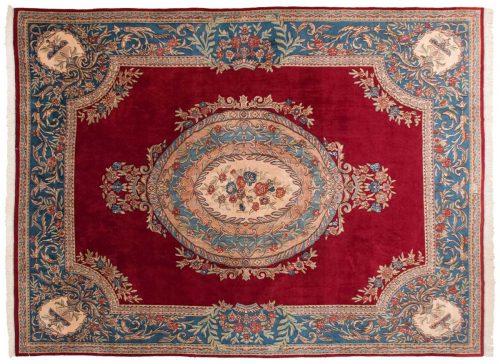 10×14 Persian Kerman Red Oriental Rug 025466