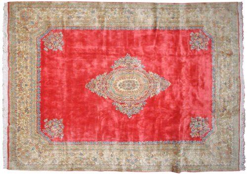 10×14 Persian Kerman Rose Oriental Large Rug 012302