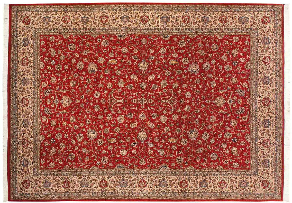 10x14 Persian Red Oriental Rug 021516