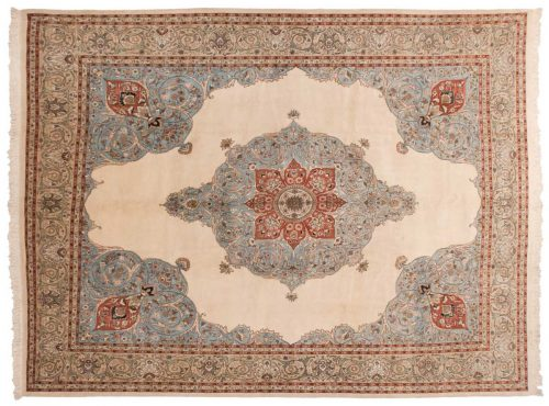10×14 Persian Tabriz Ivory Oriental Rug 035165