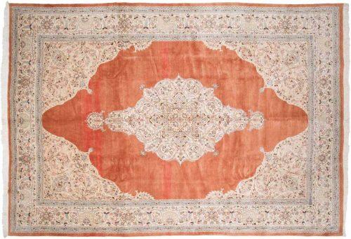 10×14 Persian Tabriz Rust Oriental Rug 035017